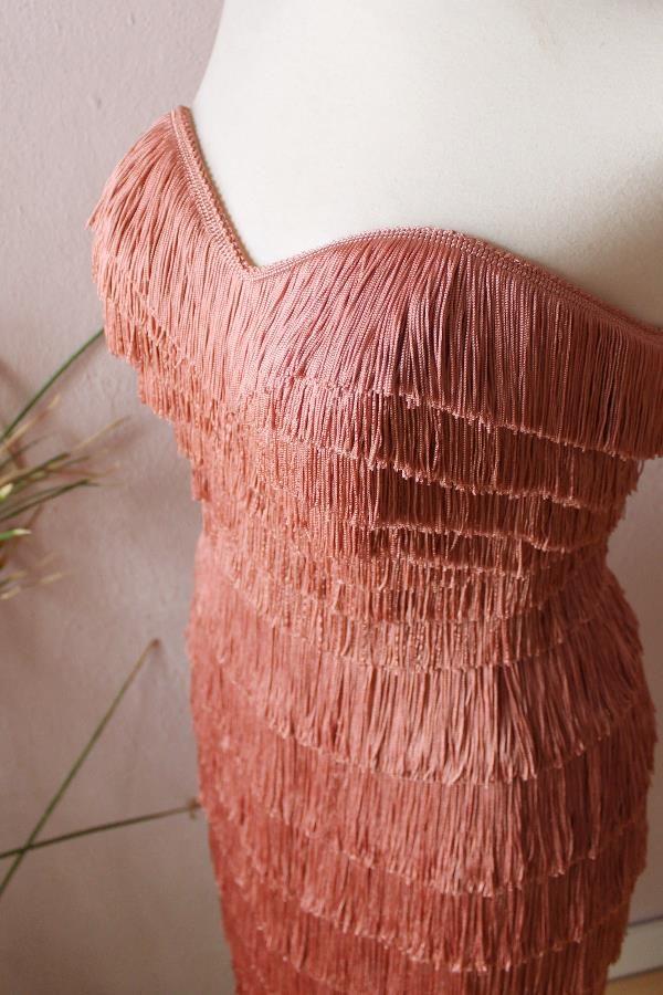 Nicole fringe dress3