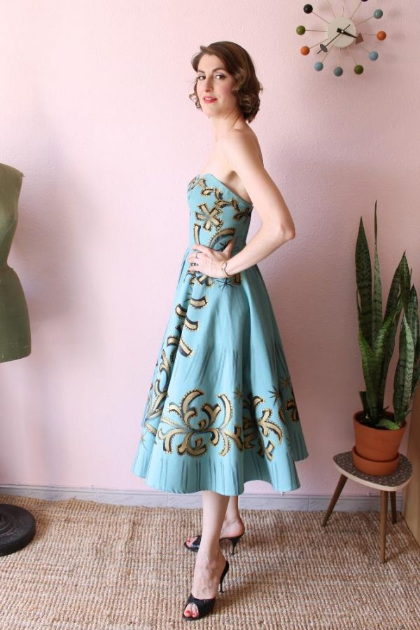 Mexican Handpainted dress 3