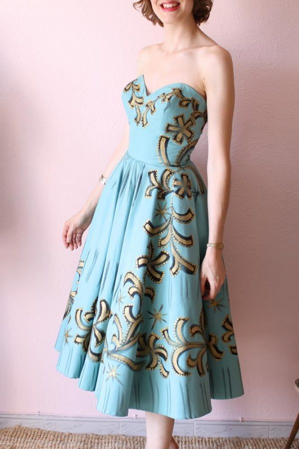 Mexican Handpainted dress 5