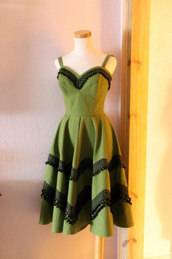 Susan dress green canvas 2