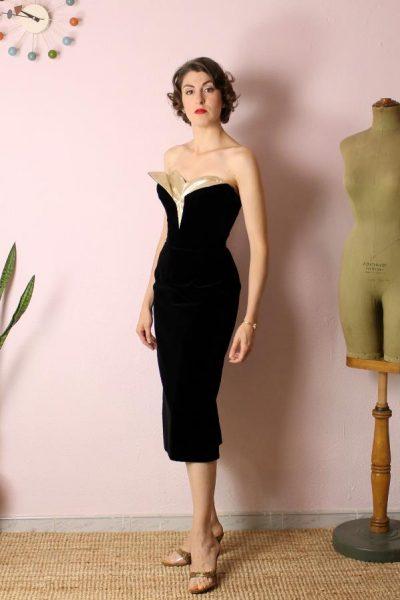 Vestido Marta Cutaway - terciopelo
