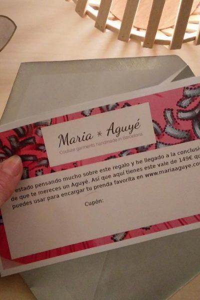 Tarjeta regalo Maria Aguyé