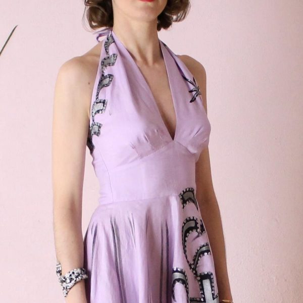 Yolanda 50s Handpainted mexican dress