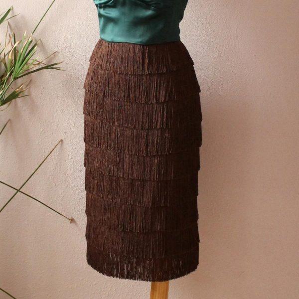 Laura fringe skirt
