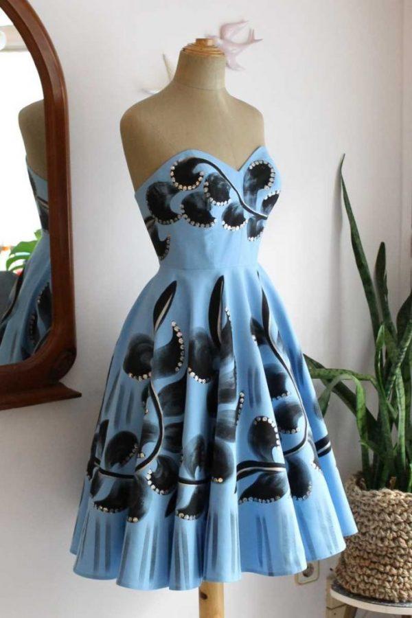 Petra handpainted dress22web