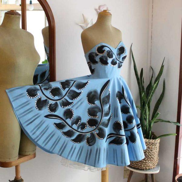 Petra handpainted dress25lib