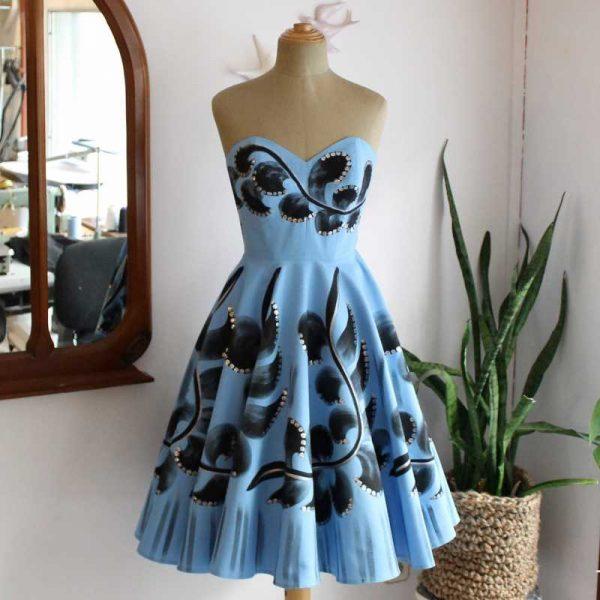Petra handpainted dress21lib